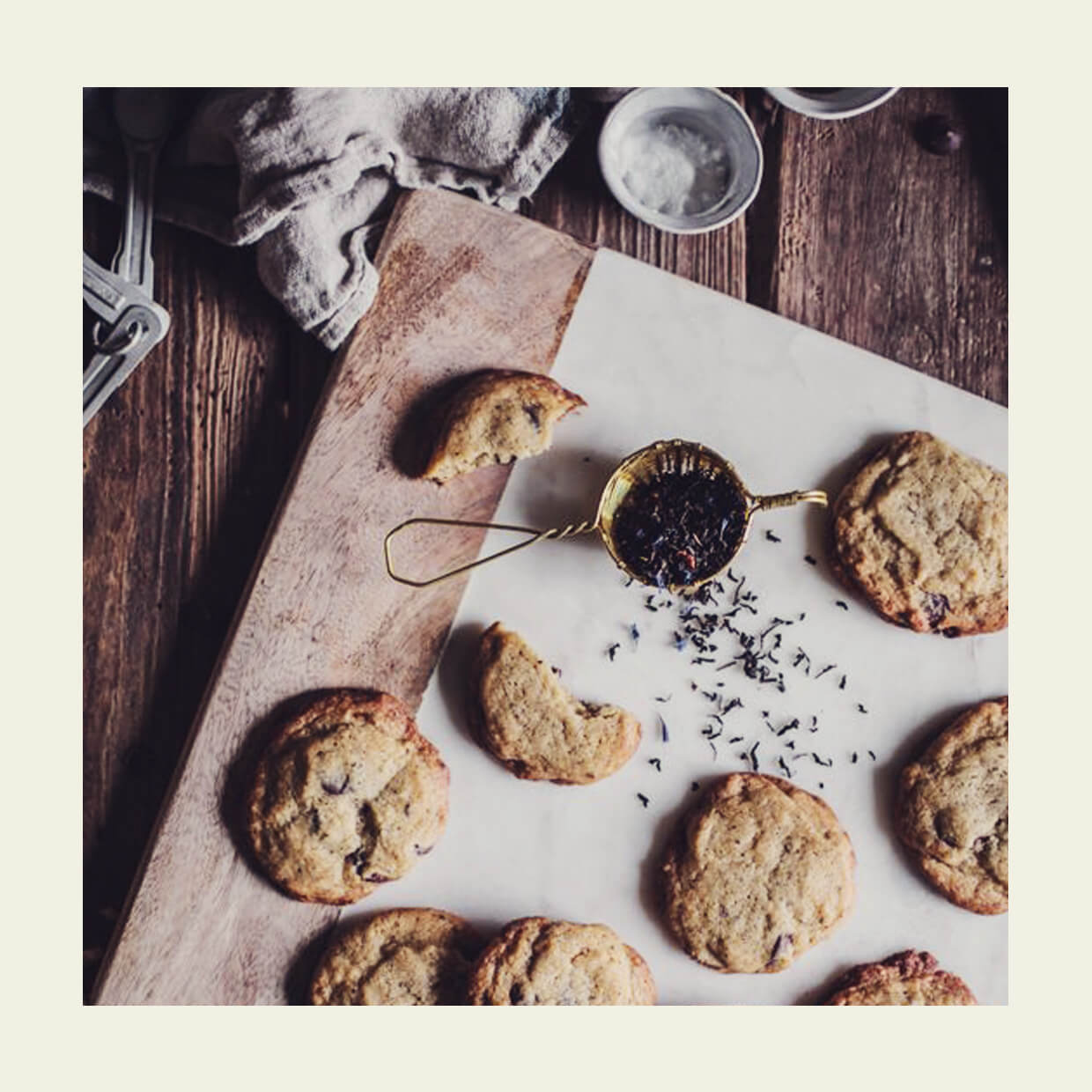 Earl Grey Chocolate Chip Cookies, Earl Grey Chocolate Chip Cookies