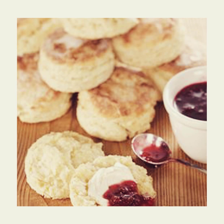 Scones en zelfgemaakte Clotted Cream, Scones en zelfgemaakte Clotted Cream