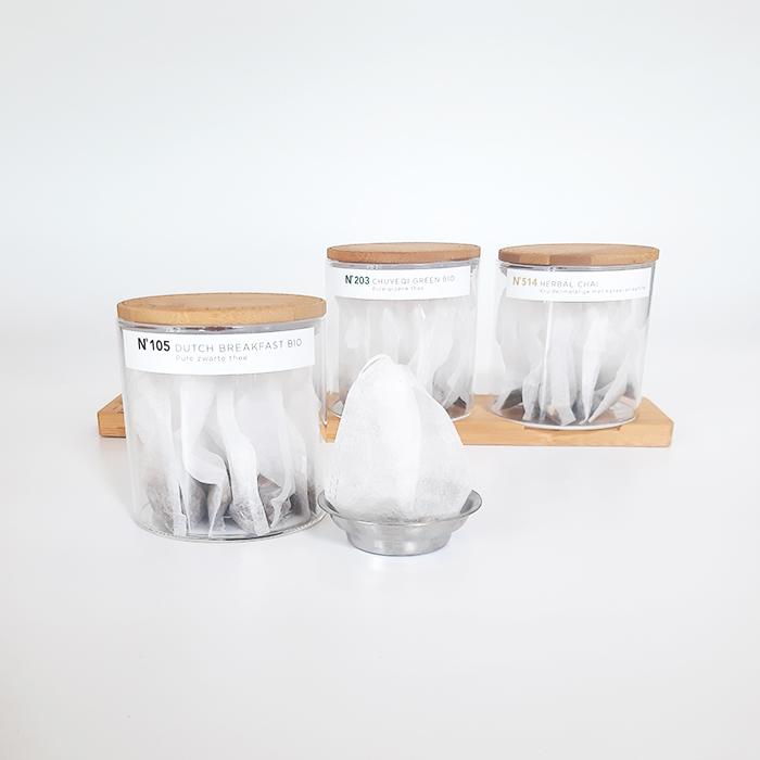 Senza Tea CO. voorgevulde losse thee zakjes voor op kantoor